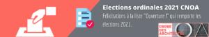 Bannières résultats élections CNOA 2021